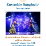 Locandina Ensemble Sangineto - musica tradizionale celtica e irlandese