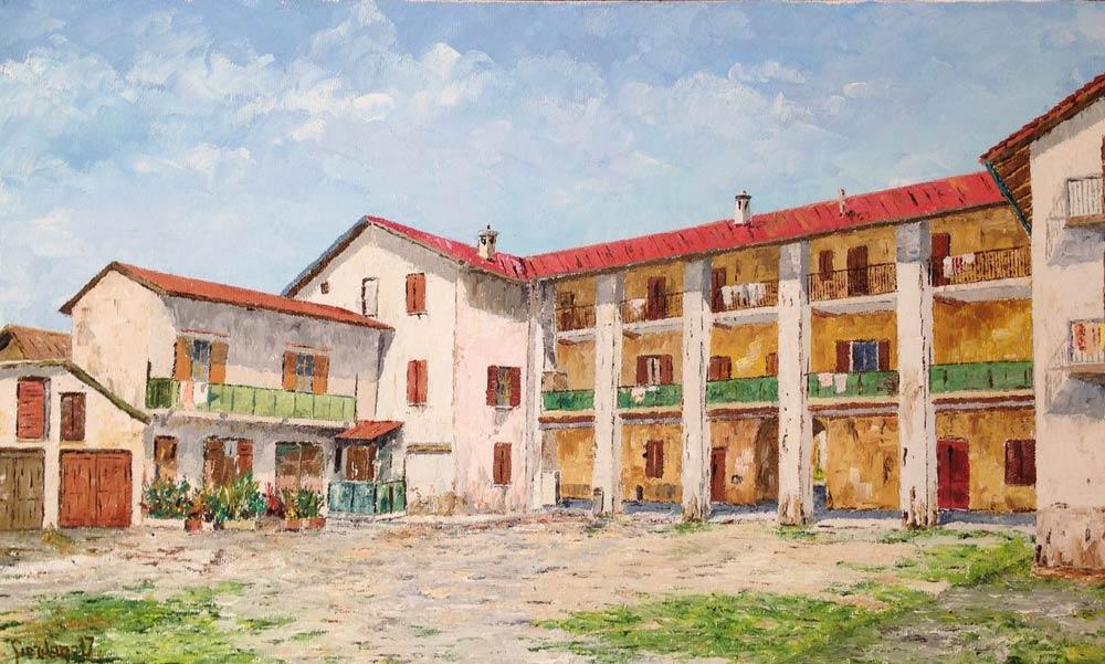 Dipinti cascine di Giordano Azzoni