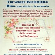 "Locandina Recital di poesie e musica ""Vocazione Infermiera"""